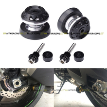 The latest Motorcycle Accessories CNC Aluminum Swingarm Sliders Spools 8mm For Suzuki HAYABUSA GSXR1300 99-15