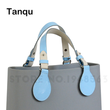 TANQU New Long Short Flat Handles with drop end for Obag Faux Leather Lacquer Handle Removable Drop End for O Bag OCHIC