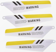 4pcs as Showing Yellow Main Blades Propellers Props 2A+2B Syma S107 S107G For R/C Mini Helicopter Rc Spare Parts(China)