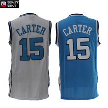 Beast Beat Vince Carter #15 North Carolina Student Basketball Jerseys White Blue Throwback Dunk King UFO Cheap Sturdy Breathabl