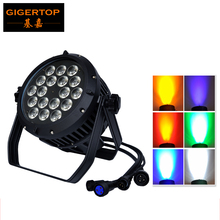 Free Shipping Waterproof IP65 Outdoor Led Par RGBWA+UV 6in1 Led Par Can 18x18w Led Par Light For Outdoor Use Rain Proof No Noise