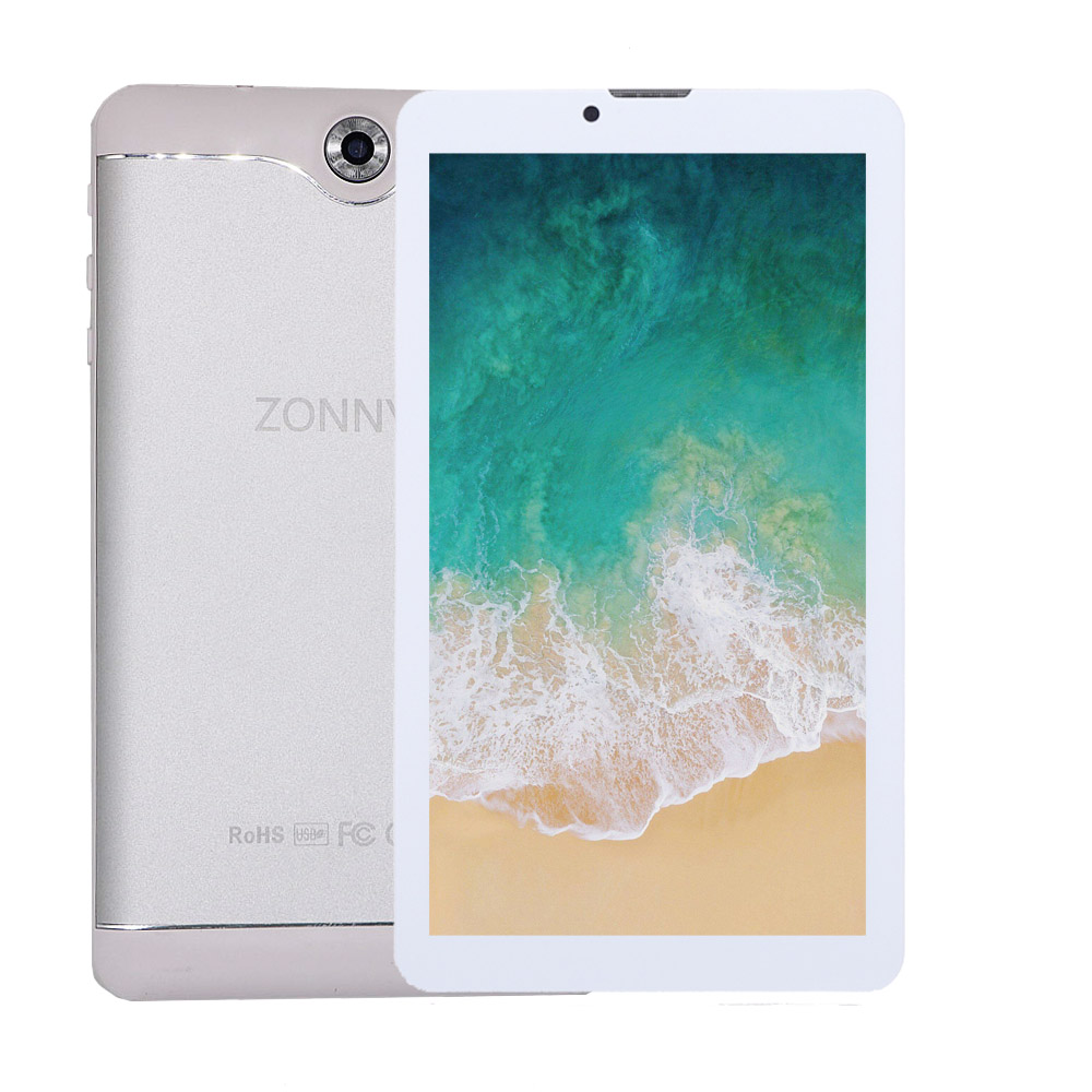 7.0 inch Tablet PC 16GB 3G Phone Call Android 6.0 Quad Core up to 1.3GHz Dual SIM WiFi OTG Bluetooth(Silver)(China)