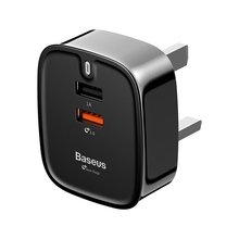 Baseus double USB QC3.0quick charger iPhone Samsung UK Universale Mobile Phone Travel Wall Charger plug 3A USB fast Charger