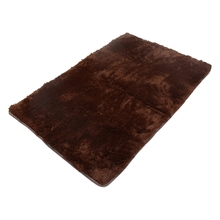 Fluffy Anti-skid Shaggy Area Rug Yoga Carpet Home Bedroom Floor Dining Room Mat brown