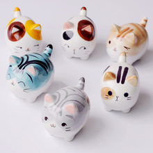 1 Pcs Ceramic Cute Cat Figurines Small Ornaments Micro-Landscape Decoration Crafts Resin Craft Home Decor 9 * 5 * 6cm