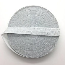 "5yards/lot 5/8"" 15mm Silver Multirole Fold Over Elastic Spandex Satin Band Ties Hair Accessories Lace Trim Sewing Notion"