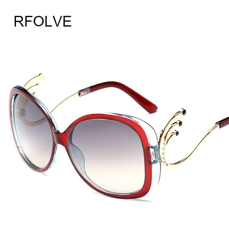 2016 New style Big Frame Fox Metal Temple Glasses New Vintage Baroque Fashion Summer Cool Sunglasses Women Brand Designer shades<br><br>Aliexpress