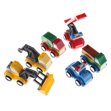 Hot Sale Mini Ladder Truck Crane Shovel Tanker Freight Car City Large Building Blocks Baby Toys Simulation Vehicle Toys for Kids(China)