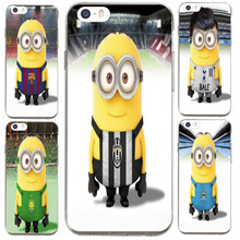 Cute Minions Juventus  kaka jersey for iPhone7 6S 6Plus 5S SE Case Ultra slim Silicone soft TPU Phone Cover