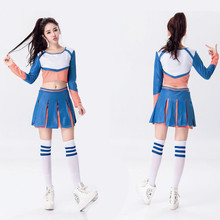New Arrival Girls Cheerleading Clothing Football Aerobics Costumes Students Cheerleading Uniform Sportswear Outfit B-5005
