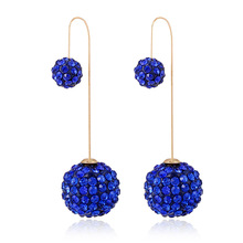 Brincos Ohrringe Phone 2pair wholesale USA style Bohemia Earring UK Lady for  Europe blue ball Earrings  for women jewelry