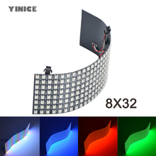 DC5V 8*32 16*16 8*8 Pixels WS2812B digital flexible LED programmed Panel Screen individually addressable 5050 smd RGB full color