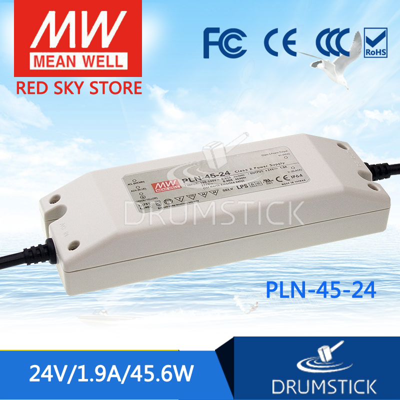 hot-selling MEAN WELL PLN-45-24 24V 1.9A meanwell PLN-45 24V 45.6W Single Output LED Power Supply<br>
