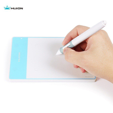 New promotion Huion 420 Fashion OSU Tablet Professional Signature pad With MINI USB Blue for Windows Mac OS+Glove(China)