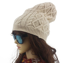 fashionable faux wool Twist design beanie winter hat for women,knitted warm skull cap,bonnet femme,gorros mujer invierno