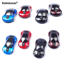 Kebidumei wireless mouse fashion super car shaped mouse 2.4Ghz optical mouse for pc laptop computer 1Pcs(China)