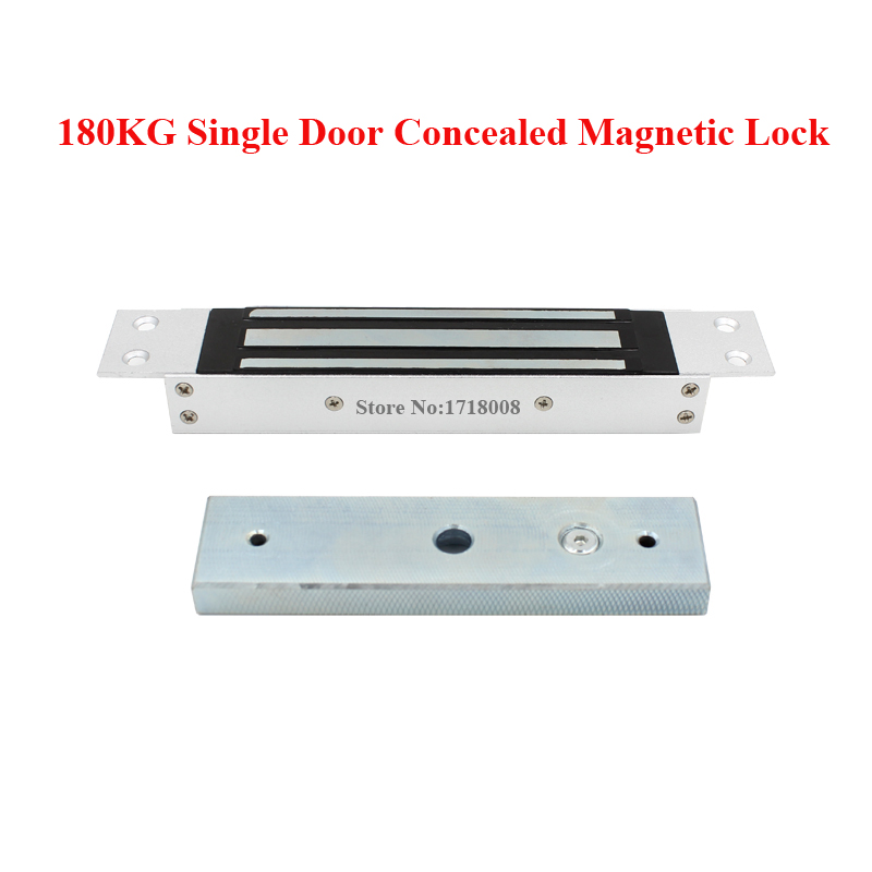 M180B Single Electric Door Lock Concealed 12V Magnetic Electromagnetic Lock 180KG (350LBS) Holding Force for Access Control<br>