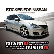 60/90cm nismo Motersports International Side Body Hellaflush Car Styling Reflective Vinyl Sticker Exterior Decals for Nissan