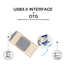 For Iphone 5/5s/5c/6/6 Plus/7/ipad/Android USB Flash Driv High Speed USB 3.0 OTG pendrive 64GB 32GB 16GB 8GB Metal USB Flash