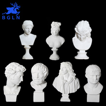 Bgln 1Piece Home Decoration Statuette Accessories Art Resin Portrait Sketch Painting Model Sculpture Model Drawing Image Model(China)