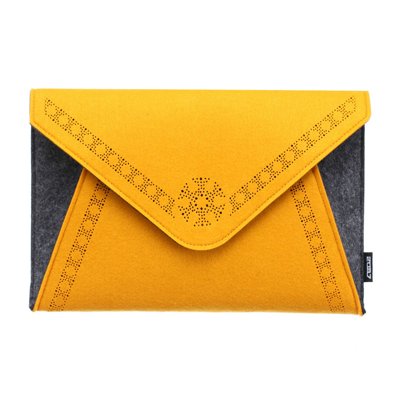 2087 Women Fashion Handbag Day Clutch Bags Ladies Evening Bag High Quality Felt Fiber Material Color Orange Blue Purple and Rose(China)