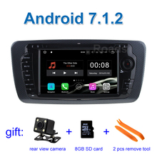 2GB RAM 1024*600 Android 7.1.2 Car DVD Player GPS for Seat Ibiza 2009 - 2013 with WiFi Bluetooth Radio GPS