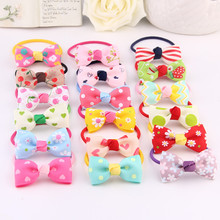 10pcs/lot New Arrival styling tools Multi-style Bow Hair ring accessories make you Beautiful used by young girl and children
