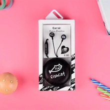 Newest Smiling Face mini In-Ear Stereo Music Earphone with Mic Colorful Earbud For mp3 player mobilephone with storage Box(China)