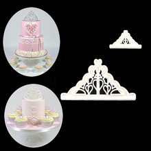 2PCS/SET Princess Crown Shape Cutter Plastic Cake Decorating Mold Sugarcraft Mold Cookie Cutting P075