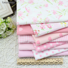 9 pcs flower farbic Rural floral cotton fabric  textile bag fabric for Sewing patchwork craftsTilda Cloth 40*50cm Free Shipping