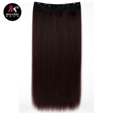 Miss U Hair 5 Clips Heat Resistant Fiber Long Straight Synthetic Clip in Hair Extensions women hairpiece accessories