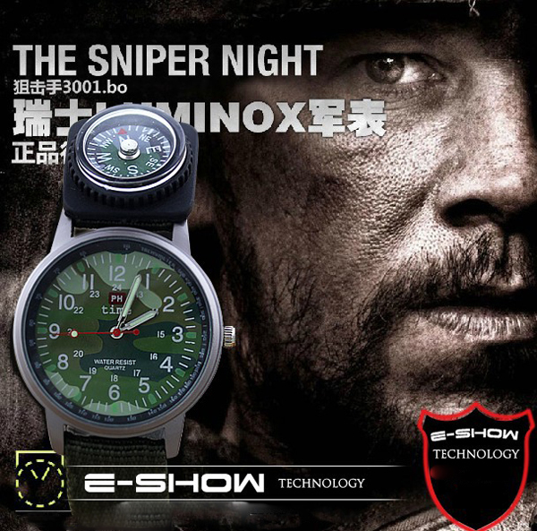 shsby SALE NEW 2015 military watches sports mens quartz watches nylon children gift watch with compass<br><br>Aliexpress