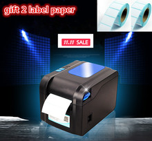 2016new Gift2 labels paper+ label printer clothing tags supermarket price sticker printer Support for printing 22-80 mm widh(China)