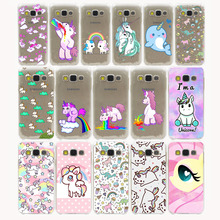 Cute Cartoon Unicorn Hard Hollow Out Transparent Case Cover for Galaxy S3 S4 S5 Mini S6 S7 Edge Plus