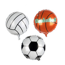 18 Inches 5pcs round the football Foil balloons holiday decoration  hydrogen baloons party inflatable balls  anniversaire