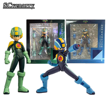 Blue & Green Rockman exe Site Style 4Inch-Nel PVC Action Figure Collectible Model Toys 10cm