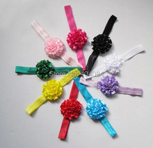 Trial order 10pcs Satin Flower Headbands Elastic head bands Hairbands  Hair Accessories