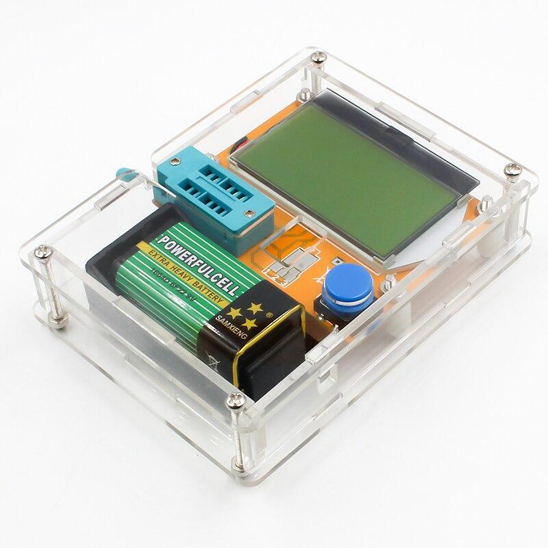 16 Latest LCR-T4 ESR Meter Transistor Tester Diode Triode Capacitance Mos Mega328 Transistor Tester + CASE (not Battery ) 5