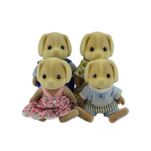 Limited Collection Sylvanian Families Little dog Family 4pcs Parents & Kids Set New without Box(China)