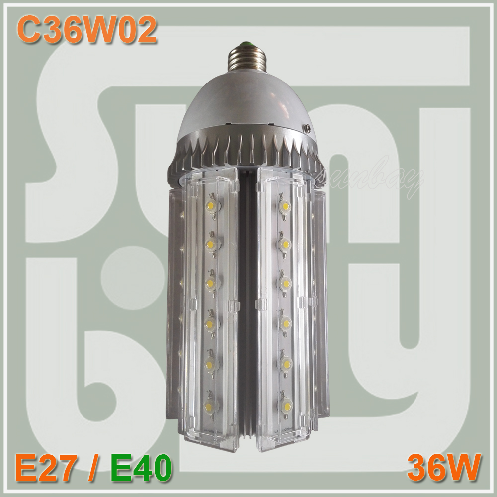 Epistar chip 36W led bulb 85-277VAC 360degree E40 led street lamp 2 years warranty 36W led corn lights<br>