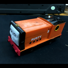 T0169-1 have scratches on the car body Electric Thomas and friend Rusty Trackmaster engine Motorized train Chinldren kids toys(China)