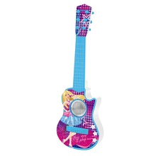 High Simulation Exquisite Toy Musical Instrument: PANGHU Learning&Education Barbie Lights Electric Guitar Toys Parent-Child Toys