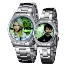 Custom Made Quartz Watch Lover's Watches Photo Printed Dial Picture Print Wristwatch Customized Clock Unique DIY Gift For Friend(China)