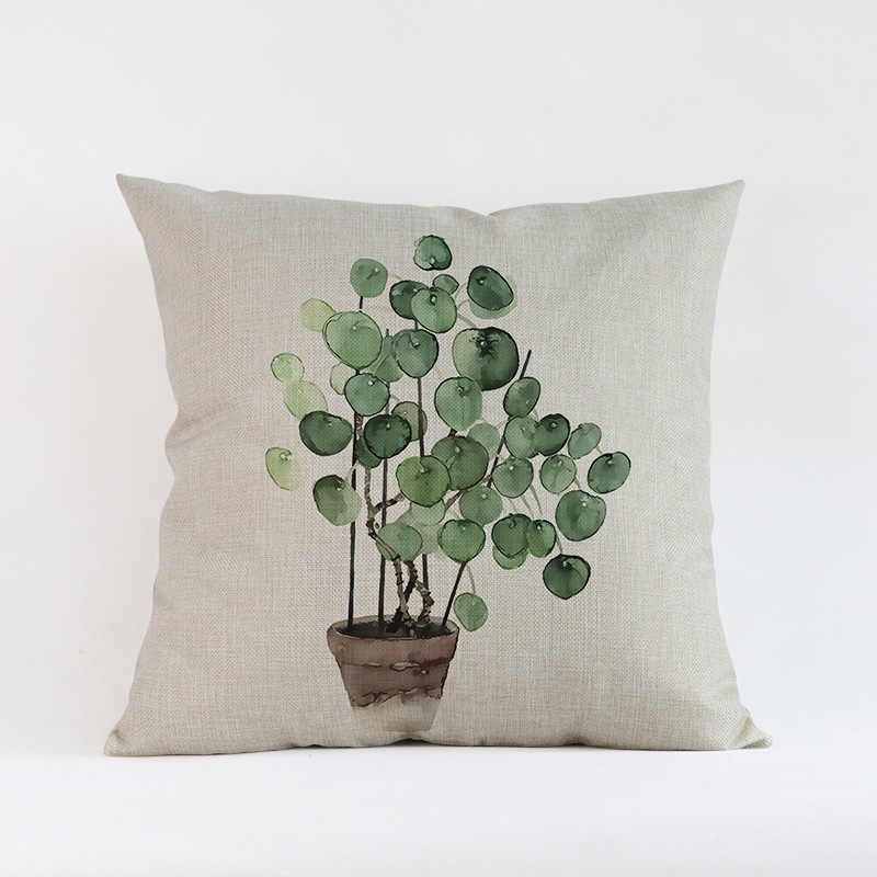 Tropical-Plants-Palm-Leaves-Cactus-Cushion-Pillow-Case-Hand-Painting-Green-Plants-Sofa-Throw-Pillow-Cover (5)