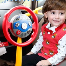 Children Electronic Backseat Driver Car Seat Steering Wheel Educational Toy Game Classic Toy Child Pretend Toy Multi functional(China)