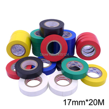 17mm*20M Electrical tape insulating tape waterproof hardy lead-free flame retardant PVC electrical insulation tape(China)