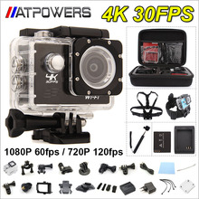 "4K Action camera F60 Allwinner V3 4K/30fps 1080P/60fps 720P/120fps WiFi 2.0"" 170D Helmet Cam underwater 30M waterproof camera"