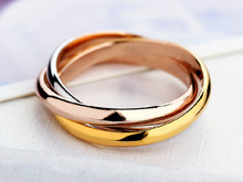 classic mix three colors wedding rings couple and engagement no gap women men unisex rings inox titanium couple ring