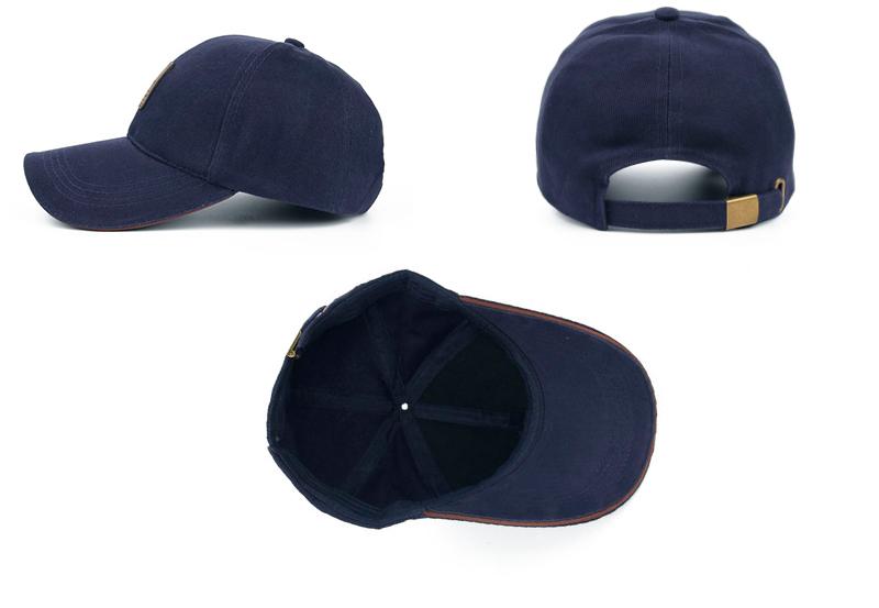 Golfer Emblem Baseball Cap - Side, Rear and Inside Views