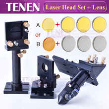 Kit: CO2 Laser Head Set Mounting Holder + 1pc Focusing Lens + 3pcs Si / Mo Reflective Mirrors For Engraver Cutting Machine Parts(China)